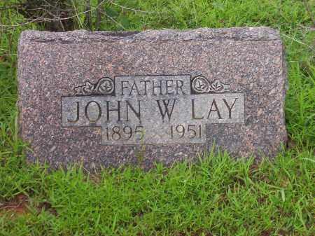 LAY, JOHN W. - Faulkner County, Arkansas | JOHN W. LAY - Arkansas Gravestone Photos