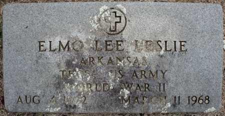 LESLIE (VETERAN WWII), ELMO LEE - Faulkner County, Arkansas | ELMO LEE LESLIE (VETERAN WWII) - Arkansas Gravestone Photos