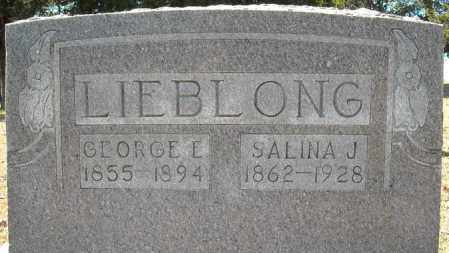 LIEBLONG, GEORGE ELBERT - Faulkner County, Arkansas | GEORGE ELBERT LIEBLONG - Arkansas Gravestone Photos