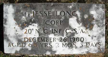 LONG (VETERAN CSA), JESSE - Faulkner County, Arkansas   JESSE LONG (VETERAN CSA) - Arkansas Gravestone Photos
