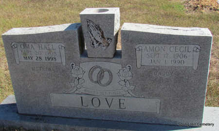 LOVE, AMON CECIL - Faulkner County, Arkansas | AMON CECIL LOVE - Arkansas Gravestone Photos