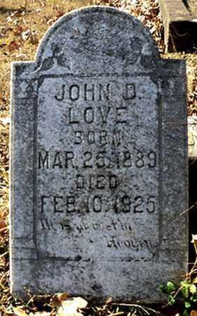 LOVE, JOHN D. (2) - Faulkner County, Arkansas   JOHN D. (2) LOVE - Arkansas Gravestone Photos
