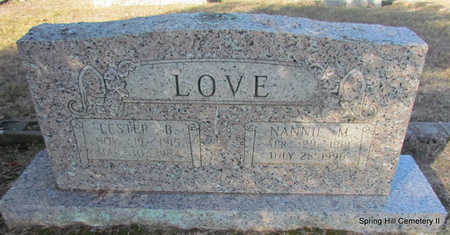 LOVE, LESTER B. - Faulkner County, Arkansas | LESTER B. LOVE - Arkansas Gravestone Photos