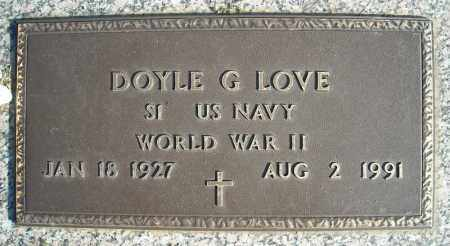 LOVE (VETERAN WWII), DOYLE G - Faulkner County, Arkansas   DOYLE G LOVE (VETERAN WWII) - Arkansas Gravestone Photos