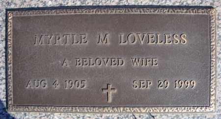 LOVELESS, MYRTLE M. - Faulkner County, Arkansas   MYRTLE M. LOVELESS - Arkansas Gravestone Photos