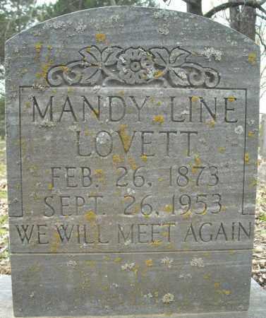 "JAMES LOVETT, AMANDA LINE ""MANDY"" - Faulkner County, Arkansas   AMANDA LINE ""MANDY"" JAMES LOVETT - Arkansas Gravestone Photos"