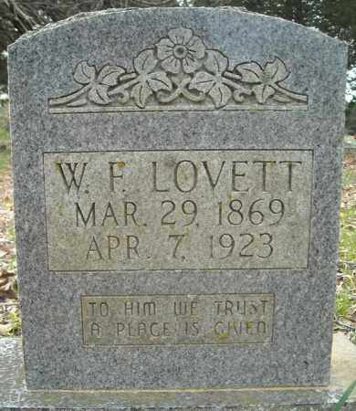 LOVETT, WILLIAM FRANK - Faulkner County, Arkansas | WILLIAM FRANK LOVETT - Arkansas Gravestone Photos