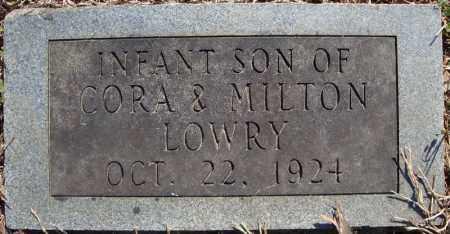 LOWRY, INFANT SON (1924) - Faulkner County, Arkansas   INFANT SON (1924) LOWRY - Arkansas Gravestone Photos