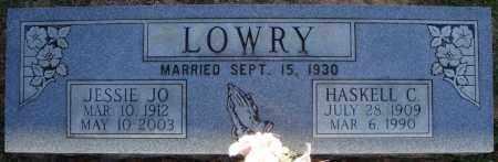 LOWRY, JESSIE JO - Faulkner County, Arkansas | JESSIE JO LOWRY - Arkansas Gravestone Photos