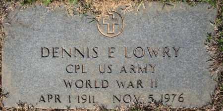 LOWRY (VETERAN WWII), DENNIS E - Faulkner County, Arkansas   DENNIS E LOWRY (VETERAN WWII) - Arkansas Gravestone Photos