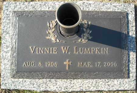 LUMPKIN, VINNIE W. - Faulkner County, Arkansas | VINNIE W. LUMPKIN - Arkansas Gravestone Photos