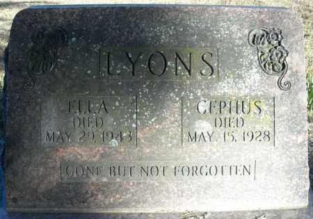 LYONS, CEPHUS - Faulkner County, Arkansas | CEPHUS LYONS - Arkansas Gravestone Photos