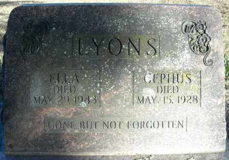 LYONS, CEPHUS - Faulkner County, Arkansas | CEPHUS LYONS - Arkansas Gravestone Photos