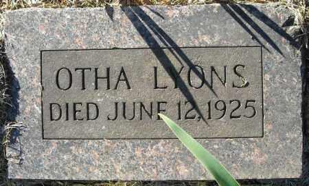 LYONS, OTHA - Faulkner County, Arkansas | OTHA LYONS - Arkansas Gravestone Photos