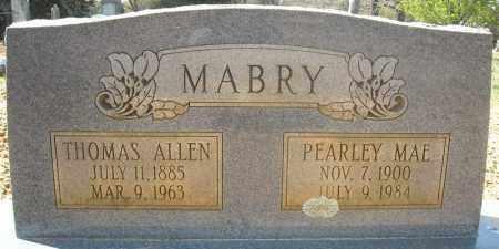 MABRY, THOMAS ALLEN - Faulkner County, Arkansas | THOMAS ALLEN MABRY - Arkansas Gravestone Photos