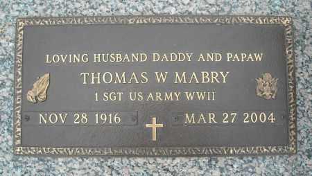 MABRY (VETERAN WWII), THOMAS W - Faulkner County, Arkansas | THOMAS W MABRY (VETERAN WWII) - Arkansas Gravestone Photos
