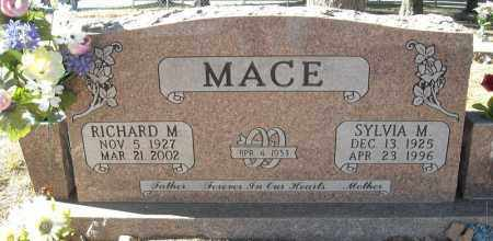 MACE, RICHARD M. - Faulkner County, Arkansas | RICHARD M. MACE - Arkansas Gravestone Photos