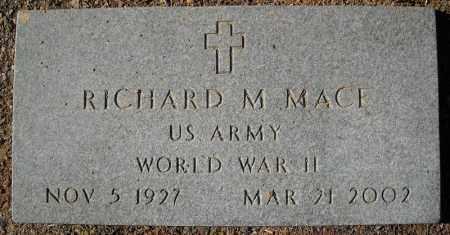 MACE (VETERAN WWII), RICHARD M - Faulkner County, Arkansas | RICHARD M MACE (VETERAN WWII) - Arkansas Gravestone Photos