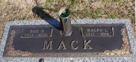 MACK, RALPH L. - Faulkner County, Arkansas | RALPH L. MACK - Arkansas Gravestone Photos