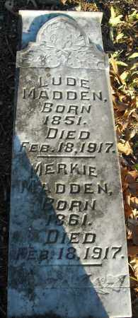 MADDEN, MERKIE - Faulkner County, Arkansas | MERKIE MADDEN - Arkansas Gravestone Photos