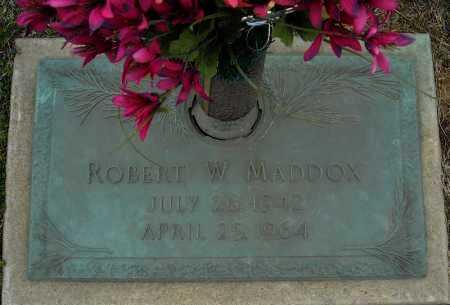 MADDOX, ROBERT W. - Faulkner County, Arkansas   ROBERT W. MADDOX - Arkansas Gravestone Photos