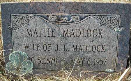 MADLOCK, MATTIE - Faulkner County, Arkansas | MATTIE MADLOCK - Arkansas Gravestone Photos