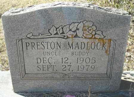 MADLOCK, PRESTON - Faulkner County, Arkansas   PRESTON MADLOCK - Arkansas Gravestone Photos