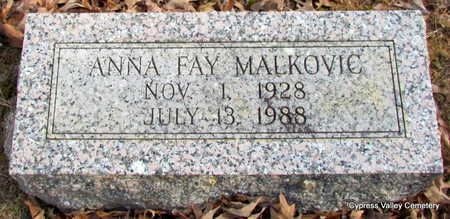 MALKOVIC, ANNA FAY - Faulkner County, Arkansas | ANNA FAY MALKOVIC - Arkansas Gravestone Photos