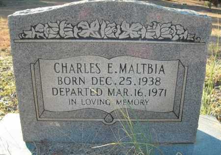 MALTBIA, CHARLES E. - Faulkner County, Arkansas   CHARLES E. MALTBIA - Arkansas Gravestone Photos