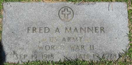 MANNER (VETERAN WWII), FRED A - Faulkner County, Arkansas   FRED A MANNER (VETERAN WWII) - Arkansas Gravestone Photos