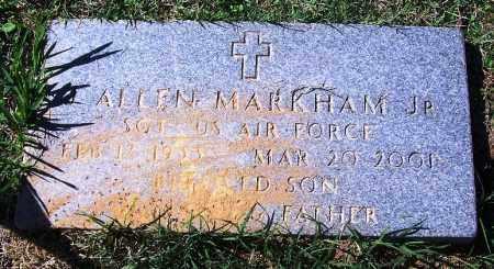 MARKHAM, JR. (VETERAN), ALLEN - Faulkner County, Arkansas | ALLEN MARKHAM, JR. (VETERAN) - Arkansas Gravestone Photos