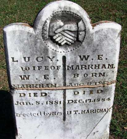 MARKHAM, LUCY - Faulkner County, Arkansas | LUCY MARKHAM - Arkansas Gravestone Photos