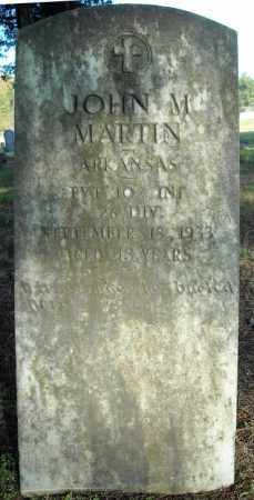 MARTIN  (VETERAN), JOHN M - Faulkner County, Arkansas   JOHN M MARTIN  (VETERAN) - Arkansas Gravestone Photos