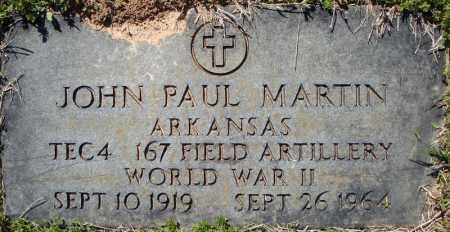 MARTIN (VETERAN WWII), JOHN PAUL - Faulkner County, Arkansas   JOHN PAUL MARTIN (VETERAN WWII) - Arkansas Gravestone Photos
