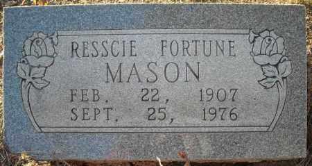 FORTUNE MASON, RESSCIE - Faulkner County, Arkansas | RESSCIE FORTUNE MASON - Arkansas Gravestone Photos