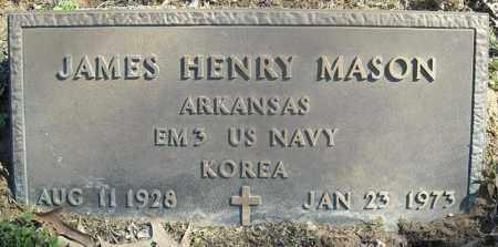 MASON (VETERAN KOR), JAMES HENRY - Faulkner County, Arkansas | JAMES HENRY MASON (VETERAN KOR) - Arkansas Gravestone Photos