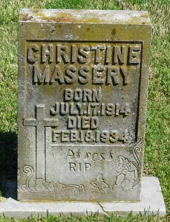 MASSERY, CHRISTINE - Faulkner County, Arkansas | CHRISTINE MASSERY - Arkansas Gravestone Photos