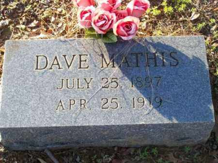 MATHIS, DAVE - Faulkner County, Arkansas | DAVE MATHIS - Arkansas Gravestone Photos