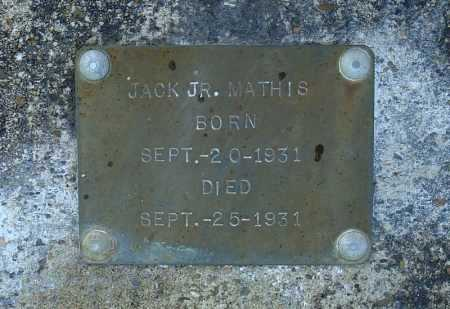 MATHIS, JR., JACK - Faulkner County, Arkansas | JACK MATHIS, JR. - Arkansas Gravestone Photos