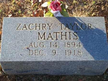 MATHIS, ZACHRY TAYLOR - Faulkner County, Arkansas | ZACHRY TAYLOR MATHIS - Arkansas Gravestone Photos