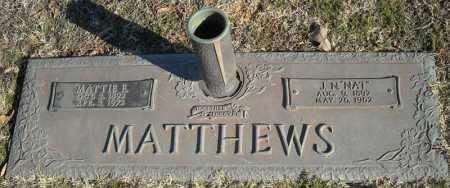 "MATTHEWS, J.N. ""NAT"" - Faulkner County, Arkansas | J.N. ""NAT"" MATTHEWS - Arkansas Gravestone Photos"