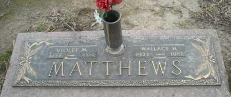 MATTHEWS, WALLACE H. - Faulkner County, Arkansas | WALLACE H. MATTHEWS - Arkansas Gravestone Photos