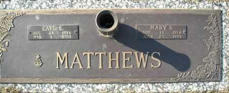 MATTHEWS (VETERAN), EARL E - Faulkner County, Arkansas | EARL E MATTHEWS (VETERAN) - Arkansas Gravestone Photos