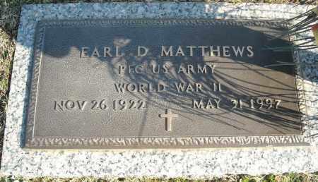 MATTHEWS (VETERAN WWII), EARL D - Faulkner County, Arkansas | EARL D MATTHEWS (VETERAN WWII) - Arkansas Gravestone Photos