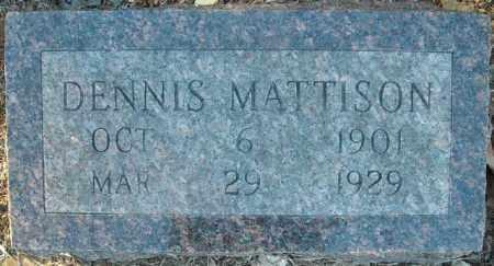 MATTISON, DENNIS - Faulkner County, Arkansas   DENNIS MATTISON - Arkansas Gravestone Photos