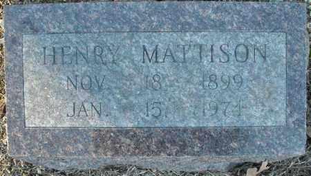 MATTISON, HENRY - Faulkner County, Arkansas | HENRY MATTISON - Arkansas Gravestone Photos