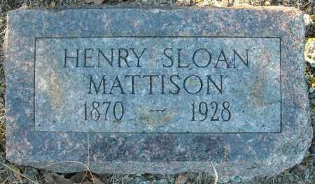 MATTISON, HENRY SLOAN - Faulkner County, Arkansas | HENRY SLOAN MATTISON - Arkansas Gravestone Photos