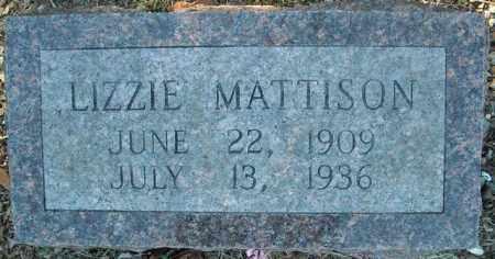 MATTISON, LIZZIE - Faulkner County, Arkansas   LIZZIE MATTISON - Arkansas Gravestone Photos
