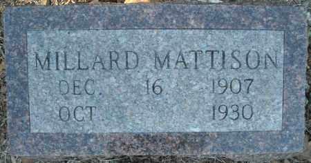 MATTISON, MILLARD - Faulkner County, Arkansas | MILLARD MATTISON - Arkansas Gravestone Photos