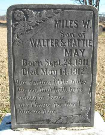 MAY, MILES W. - Faulkner County, Arkansas | MILES W. MAY - Arkansas Gravestone Photos